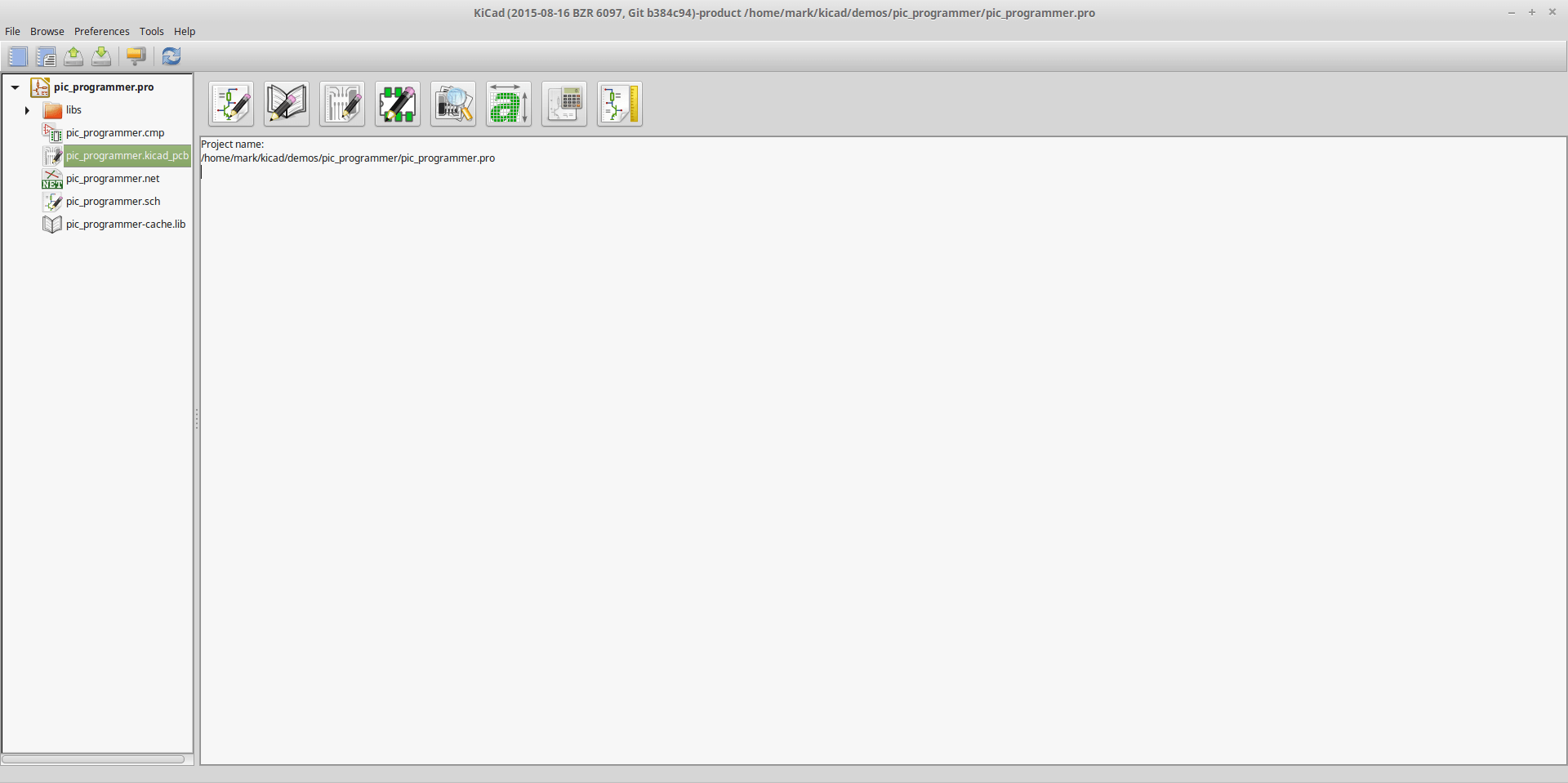 Screenshot showing KiCad on Linux Mint for comparison